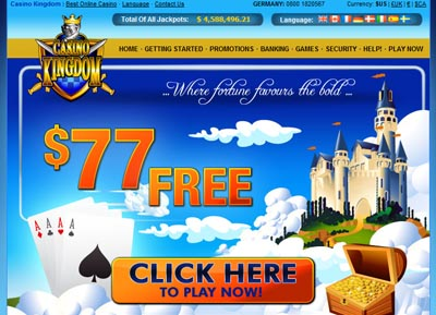 A first class online gaming experience at Casino Kingdom