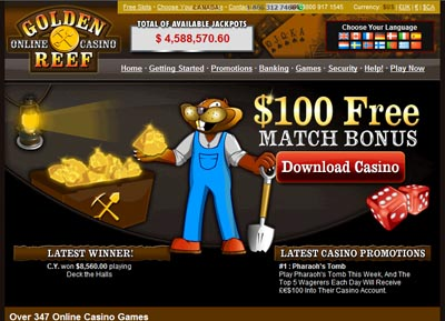 Visit Golden Reef Casino