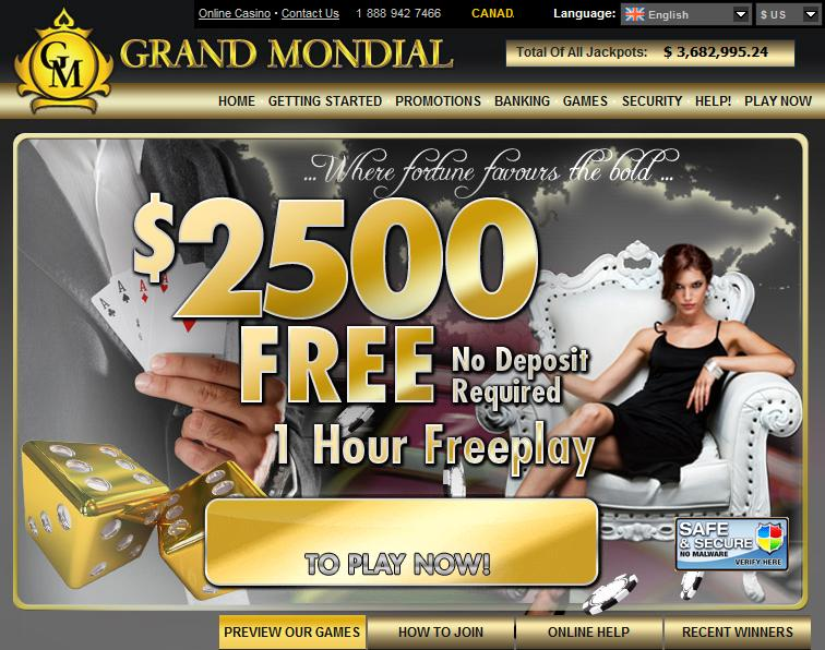 Casino Rewards Grand Mondial